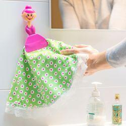 Mikrofaser-Handtuch mit Saugnapf Puppen Blume
