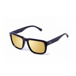 Sonnenbrille Unisex Bidart | Schwarzes Gestell, goldenes Glas