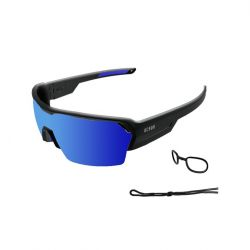 Snow Goggles Race Unisex | Black Frame, Blue Lens