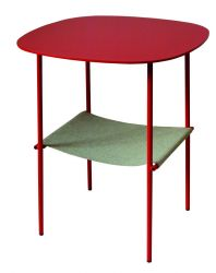 Layer Side Table Coral Red