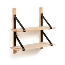 Shelving Unit Nazeli | Natural - Black