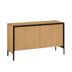 Dressoir Nadyria | Naturel / Zwart