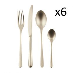 Cutlery Set of 24 Pieces Taste | Stainless Steel Champagne
