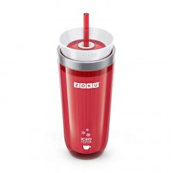 Ice Coffee Maker + Straw | Red