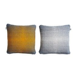 2 Side Gradient Cushion Cover | Yellow