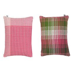 Shoelaces Cushion Cover | Raspberry
