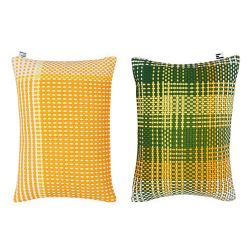 Shoelaces Cushion Cover | Lemon