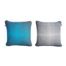 2 Side Gradient Cushion Cover | Blue