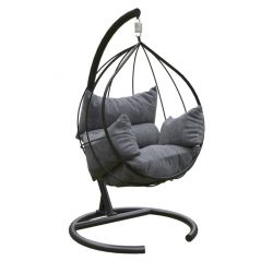 Outdoor Single Swing Chair | Anthracite Black