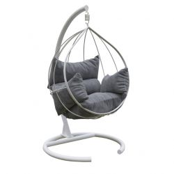 Outdoor Single Swing Chair | Anthracite White