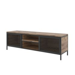 TV Stand Zeno | Oak Colour & Black