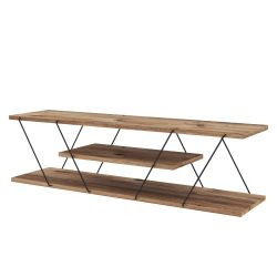 TV Stand Canaz | Walnut & Black