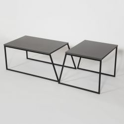 Set of 2 Coffee Tables Pal Orta Sehpa | Anthracite