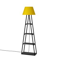 Floor Lamp Pal | Anthracite & Yellow