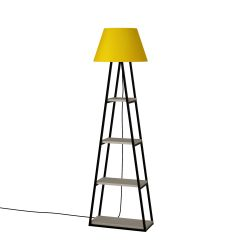 Floor Lamp Pal | Light Mocha & Yellow