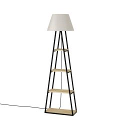 Floor Lamp Pal | Oak & Linen