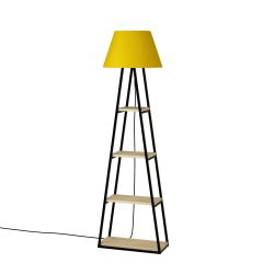 Floor Lamp Pal | Oak & Yellow