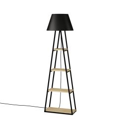 Floor Lamp Pal | Oak & Black