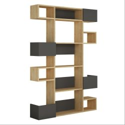 Bookcase Niho | Light Wood & Anthracite