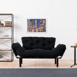 2 Seater Sofa Bed Nitta | Black