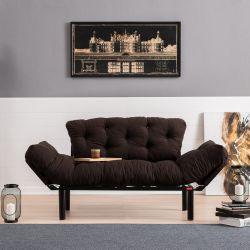 2-Sitz-Sofabett Ege | Braun
