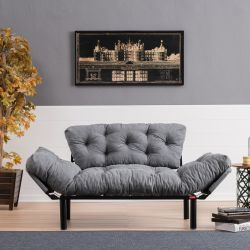 2 Seater Sofa Bed Nitta | Grey