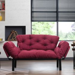 2-Seat Sofa Bed Ege | Maroon