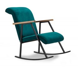 Rocking Chair Yoka | Petrol Blue