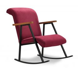 Rocking Chair Yoka | Maroon
