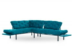 Corner Sofa Bed Nitta | Petrol Blue