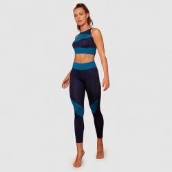 Set of Legging and Crop Top 7057 7066 | Navy-Petrol