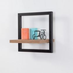 Wall Shelf Decor Raf - 35 x 35 cm | Black Pine