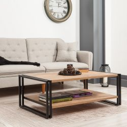 Coffee Table Cosmo Rectus | Black Pine