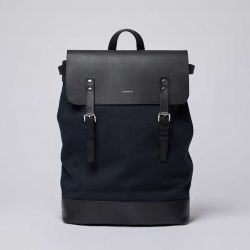 Backpack HEGE | Blue with Black Leather