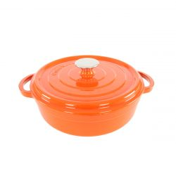 Cast Iron Casserole H 13 cm | Orange