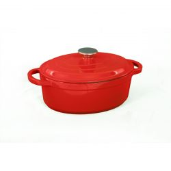 Cast Iron Casserole Oval | Red