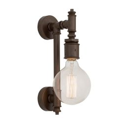 Metal Wall Lamp 34 x 34 x 8 cm | Dark Brown