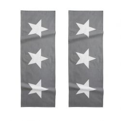 Table Runner Stars Grey | Set of 2