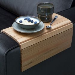 Flexible Armlehnenablage aus Holz XL | Eiche