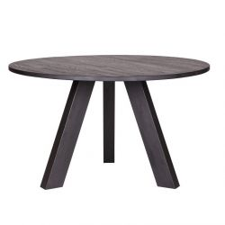 Rhonda Diner Table | Ø129 Blacknight