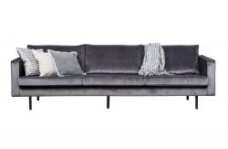 3 Seater Sofa Velvet | Grey