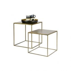 Side Table Metallic | Set of 2 | Brass