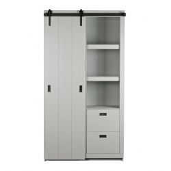 Slide Barn Cabinet | Concrete Grey