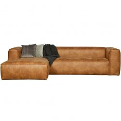 Corner Sofa Left Bean | Cognac