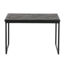 Table d'Appoint Sharing Carré | Noir