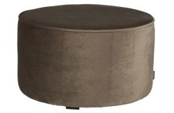 Pouf Velours Bas Sara | Olive Or