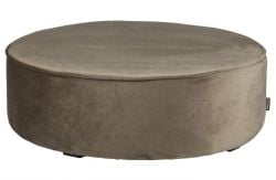 Pouf Velours Bas XL Sara | Olive Or