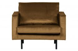 Velvet Armchair Rodeo | Honey Yellow