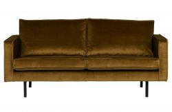 Rodeo 2,5 Seater Velvet Sofa | Honey Yellow