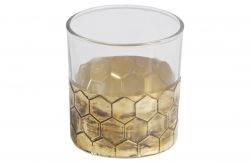 Wrap Candle Holder Medium | Gold